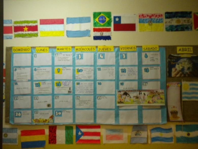 Woodville School - Construcción de banderas americanas